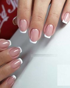 Looking for fresh designs of nail arts to sport nowadays? You must have to visit this page for stunning ideas of cute and fresh nail arts and designs that we have given here especially for you. Juts g French Manicure Nails, Gel Nails, Natural French Manicure, Acrylic Nails, Perfect Nails, Gorgeous Nails, Nail Polish Designs, Nail Art Designs, Cute Nails