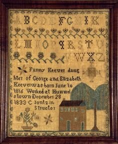 antique samplers | antique, sampler, needlework, Huber, antique samplers