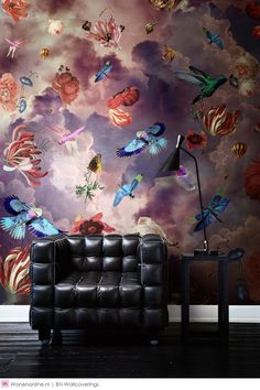 Home Decorating DIY Projects: Fotobehang / Digital Wallpaper collection Dutch Masters by Katarina Stupavska - . Wallpaper Collection, Floral Wall, Wall Treatments, Wall Wallpaper, Wallpaper Wallpapers, Home Decor Trends, Living Room Interior, Wall Design, Wall Murals