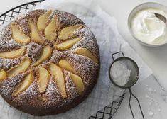 Feijoa, Pear and Ginger Cake