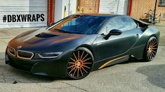 Project BMW i8 Wrapped in Satin Black aka Frozen Black with Matte Copper...