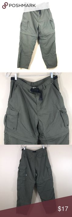 "Men REI convertible cargo pants, size M REI convertible cargo/hiking pants/shorts size medium in olive green. 50 UPF. 100% nylon. Length 30"". REI Pants Cargo"