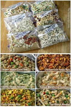 These look like they'd be great easy meals for camping! 6 Instant Meals for camping and backpacking. Hiking Food, Backpacking Food, Camping Meals, Freezer Meals, Camping Hacks, Camping Cooking, Camping Dishes, Easy Meals, Diy Camping