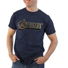 Avengers Filled Title Realtree Logo Men's Graphic Tee, Size: Small, Blue