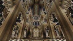 Intérieur Cathédrale. Minecraft Create