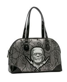 Frankenstein Silver Lace Handbag