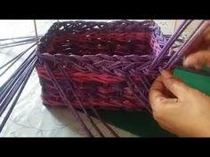 Ажурная загибка. Плетение из газетных трубочек - YouTube