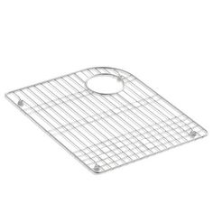 Kohler K-6001 Left Bowl Stainless Steel (Silver) Sink Rack for Marsala and Executive Chef Sinks