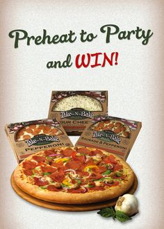 Preheat to Party and WIN! Win a summer pizza party for 12 friends! It's easy to WIN, like us now and find out how.