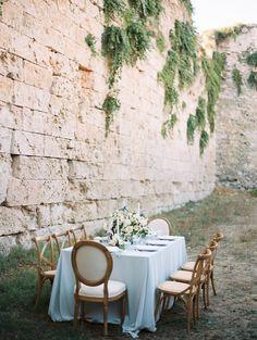 European wedding - photo by Laura Sponaugle Photography http://ruffledblog.com/modern-greek-goddess-wedding-inspiration