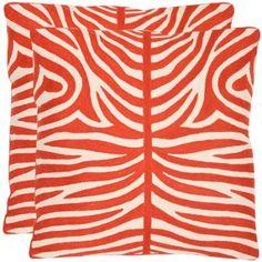 Safavieh Sierra Pillow, Set of 2, Orange