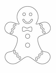 Gingerbread man - Free Printable Coloring Pages