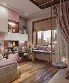Home Decoration Ideas Living Room .Home Decoration Ideas Living Room Room Design Bedroom, Teen Bedroom Designs, Bedroom Decor For Teen Girls, Home Room Design, Room Ideas Bedroom, Small Room Bedroom, Small Girls Bedrooms, Modern Kids Bedroom, Small Room Design