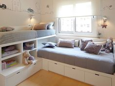 12 Clever Small Kids Room Storage Ideas - www. 12 Clever Small Kids Room Storage Ideas - www. 12 Clever Small Kids Room Storage Ideas - www. Home, Kid Beds, Bedroom Storage, Bed In Corner, Small Kids Room, Bedroom Design, Tiny Bedroom, Childrens Bedrooms, Storage Kids Room