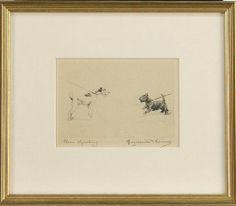 Vintage Marguerite Kirmse Scottie Scottish Terrier Wire Fox Signed Etching Print   eBay