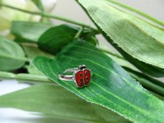 A personal favorite from my Etsy shop https://www.etsy.com/listing/239609337/childs-adjustable-ladybug-ring-girls