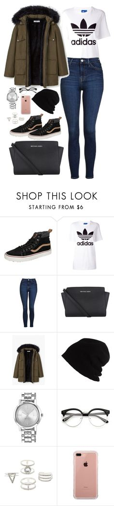 """Untitled #2397"" by thisishowwedress on Polyvore featuring Vans, adidas Originals, Topshop, Michael Kors, MANGO, SCHA, Nine West, Charlotte Russe and Belkin"