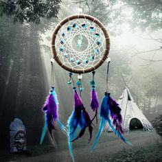 Indian Home Decor | 2015 New Fashion Wind Chimes Indian Style Feather Pendant Dream Catcher Gift Home Decor $3.79
