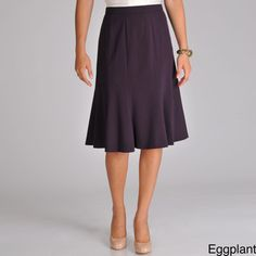 @Overstock.com - This super flattering paneled skirt from Focus 2000 features a sweet tulip flare and slight stretch for the perfect fit. The thin waistband of this career skirt closes at the back with a zipper and button. http://www.overstock.com/Clothing-Shoes/Focus-2000-Flared-Career-Skirt/6528191/product.html?CID=214117 $27.99