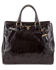 Prada Vitello Shine Leather Shopper