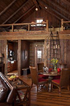 Family Cabin Retreat - traditional - living room - phoenix - Swaback Partners, pllc