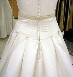 close up of bustle