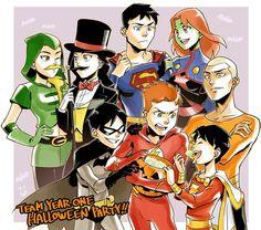 Justicia joven feliz halloween
