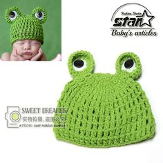 >> Click to Buy << Cute Frog Newborn Crochet Cap Boy Knitting Hat Girl Hat Baby Cap Baby Hat For Infant Newborn Photography Prop Accessories #Affiliate