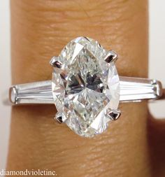 Wow.  This is Gorgeous!!  A little much though!! lol 2.40ct Estate Vintage Oval Diamond Engagement by DiamondViolet, $8980.00