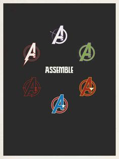 The Avengers minimalist poster by graphic designer Matt Owen. - Visit to grab an amazing super hero shirt now on sale! The Avengers, Avengers 2012, Avengers Symbols, Marvel Dc Comics, Marvel Heroes, Marvel Logo, Loki Marvel, Minimalist Poster, The Villain
