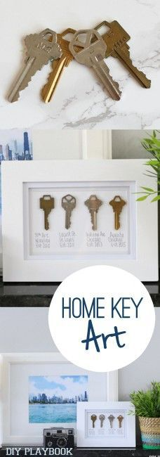Save the keys from all of your past apartments and houses and frame them! We love art that is FREE, easy, and most of all...sentimental.