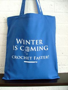 Game of Thrones inspired crochet project bag by KellyConnorDesigns, $17.00