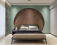 HALF MOON on Behance Simple Bedroom Design, Bedroom Wall Designs, Bedroom Bed Design, Bedroom Styles, Bungalow Interiors, Living Room Tv Unit Designs, Bedroom Setup, Contemporary Interior Design, Living Room Grey