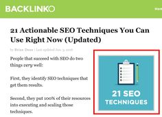 Quick tips for improving search engine optimization on your website.