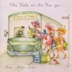 The Heels On The Bus Birthday Berni Parker Designs Card. £2.75 - FREE Postage!