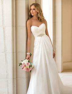 Vestidos De Novia Sexy Chiffon Beach Wedding Dress Vintage Boho Cheap Wedding Dress 2014 Robe De Mariage Bridal Gown Casamento