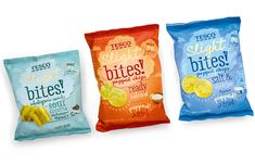 """""""International Design Consultancy Pemberton & Whitefoord (P&W) has created the name and brand identity for a range of snacking products for Tesco. The range offers a healthier alternative to chips/crisps and includes varieties such as popped snacks and multigrain varieties."""""""