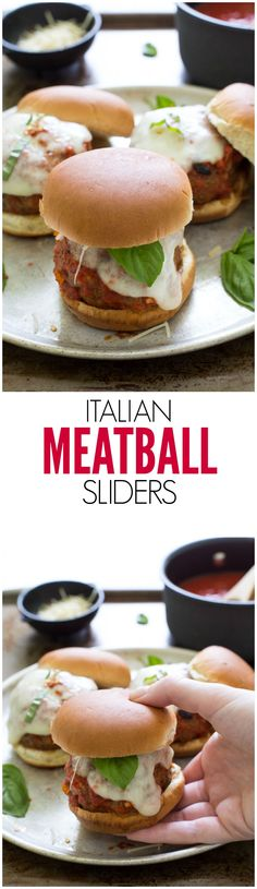 These Italian Meatball Sliders are quick and easy and DELICIOUS!