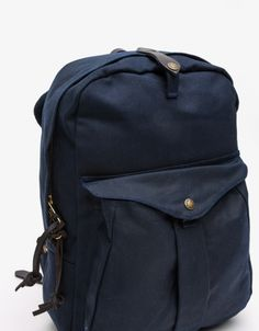 Twill Backpack in Navy