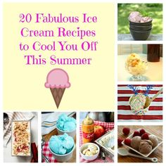 20 Fabulous Ice Cream Recipes to Cool You Off This Summer include traditional recipes and no churn! #icecreamrecipes #icecream #summerrecipes | Summer Recipes | Ice Cream Recipes | No Churn Ice Cream | Kid Friendly Recipes | Dessert Recipes Homemade Banana Ice Cream, Apple Ice Cream, Ice Cream Kids, Coconut Ice Cream, Frozen Desserts, Fun Desserts, Delicious Desserts, Dessert Recipes, Frozen Treats