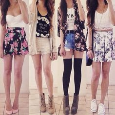Image via We Heart It https://weheartit.com/entry/155932387 #art #fashion #floral #girls #lady #outfit #passion #skirt #teens #weheartit