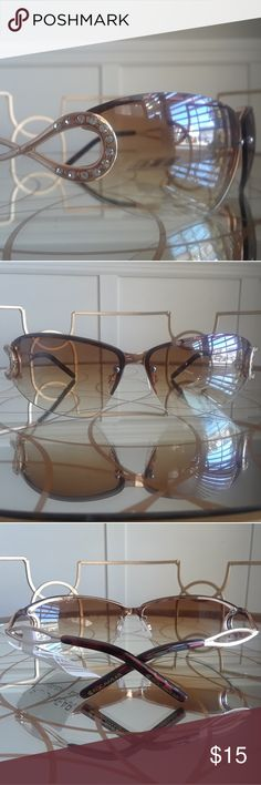 NWT! Chic Rhinestone Encrusted Roca Sunglasses You'll love these chic & stylish rhinestone encrusted sunglasses by Rocawear. Gold tone & faux tortoise shell earwires. NWT and in perfect condition. Rocawear Accessories Sunglasses