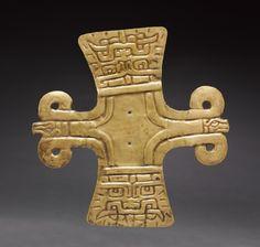 Cross-Shaped Ornament, c. 500-200 BC                                                Peru, North Highlands, Chavín de Huantar(?), Chavín style (1000-200 BC)