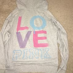 LOVE PINK Hoodie LOVE PINK Hoodie - Small Oversized Slouch fit PINK Victoria's Secret Jackets & Coats