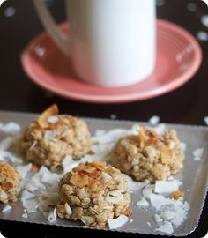 Peanut Butter Coconut Cookies, vegan and gluten free!