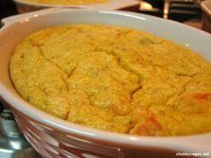 Torta com tofu e legumes  com amido de milho