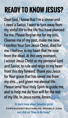 Information on salvation and the Sinner's Prayer Prayer Verses, Faith Prayer, God Prayer, Prayer Quotes, Bible Verses, Good Night Bible Verse, Prayer Cards, Scriptures, Jesus Our Savior