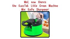 Such a cool little Knife Sharpener that I found on Amazon. It has a suction cup on bottom to keep it steady while you just pull your knife through the groove a few times. Just go to Amazon and search KazzTek. I love this little thing!