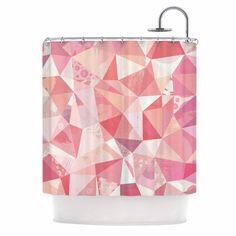 Kess InHouse Nic Squirrell Crumpled Pink, Shower Curtain