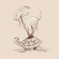 Dave Mottram: @Sketch_Dailies Here's a slow moving Goat of the Year. #YearoftheGoat